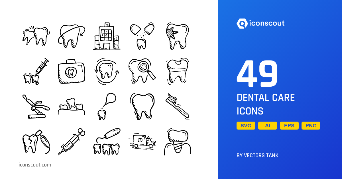 Dental care symbol packages choose from the large