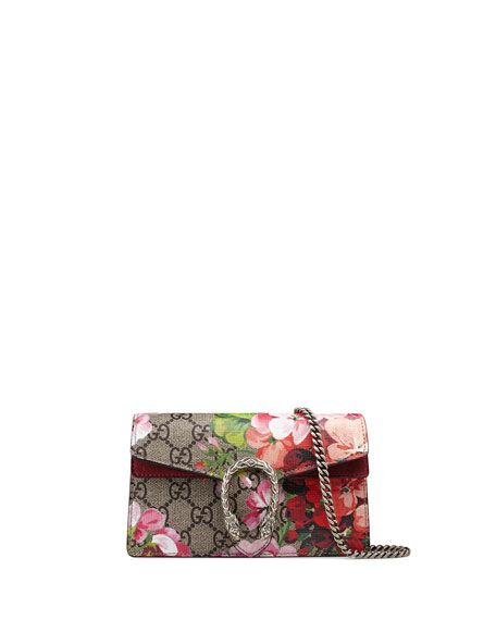 fdc7e7e0aebe GUCCI Dionysus Gg Blooms Super Mini Bag, Neutral/Multi, Neutral Pattern. # gucci #bags #shoulder bags #canvas #suede #
