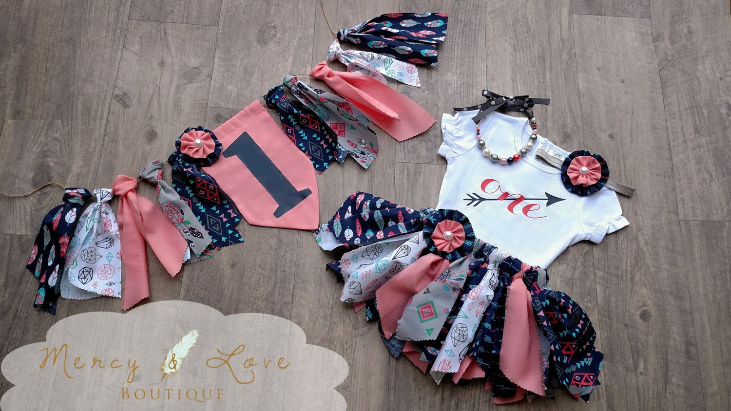 The Cheyenne Fabric Tutu Birthday Outfit First Birthday Outfit
