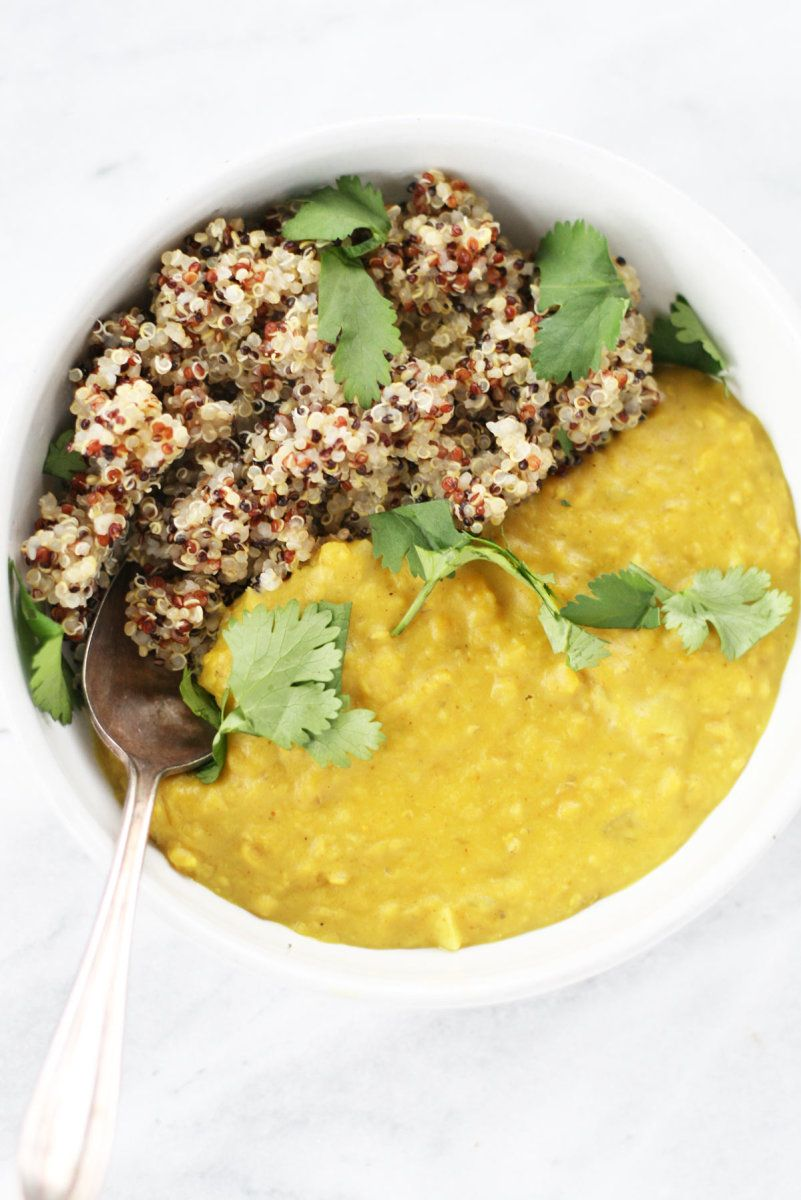 Cozy Vegan Red Lentil Dal With Coconut Milk And All The Turmeric