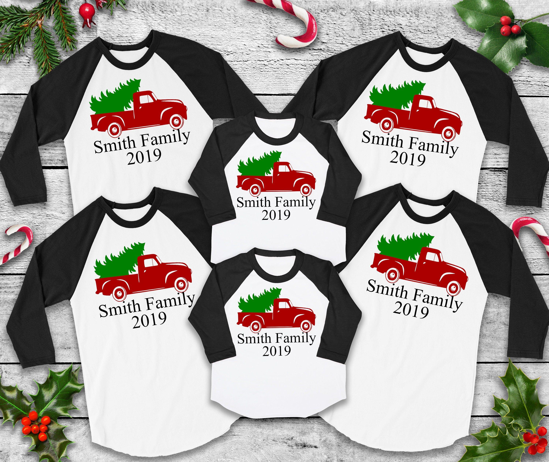 Custom Christmas Tees Cute Christmas Tops Matching Christmas Etsy Matching Christmas Shirts Christmas Tops Christmas Shirts