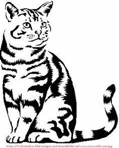 Katze 271 Kostenlose Malvorlagen Und Ausmalbilder Auf Www Wicoworld Com Jpg 600 747 Kedi Sanati Pirogravur Hayvan
