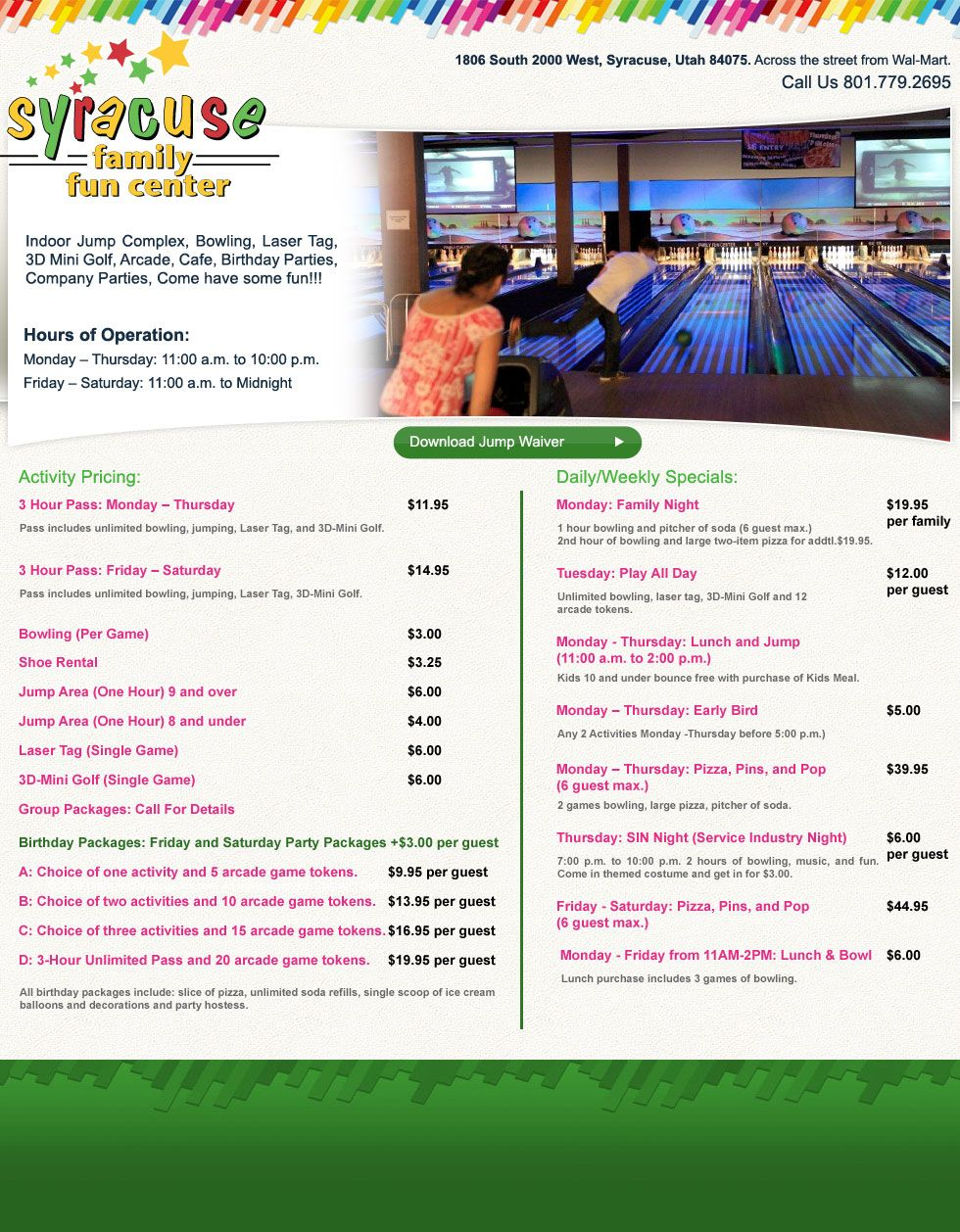 Syracuse Family Fun Center Bowling Laser Tag Mini Golf And Huge Trampolines Mini Golf Laser Tag Family Fun