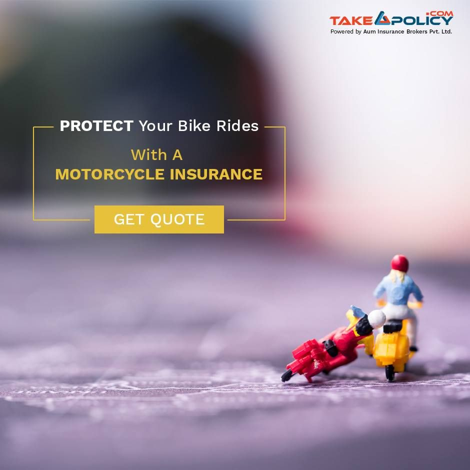 Get your bike insured with the best insurance out there at