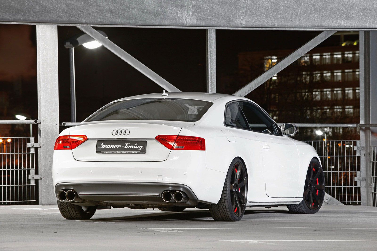 2012 Ibis White Audi S5 Facelift With 377 Horsepower By Senner Tuning 2012 Senner Tuning Audi S5 Facelift Rear Angle View Audi S5 White Audi Audi