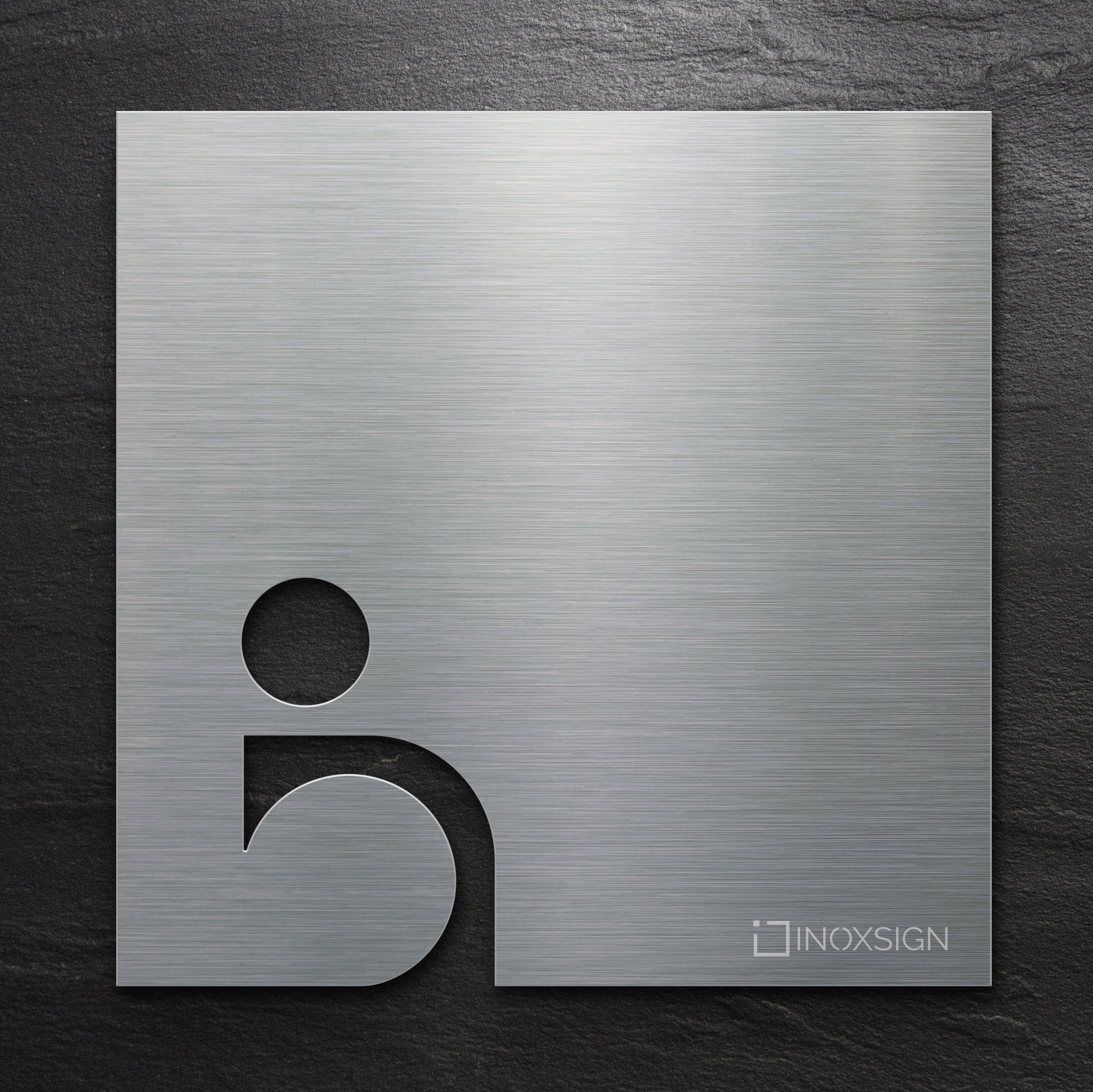 Inoxsign Business Kollektion B03 Passend Zu T03 Edelstahl Toilettenschilder Barrierefreies Wc Selbstklebend Design Wc Schild R Toilettenschilder Wc Schild Und Toilettenzeichen