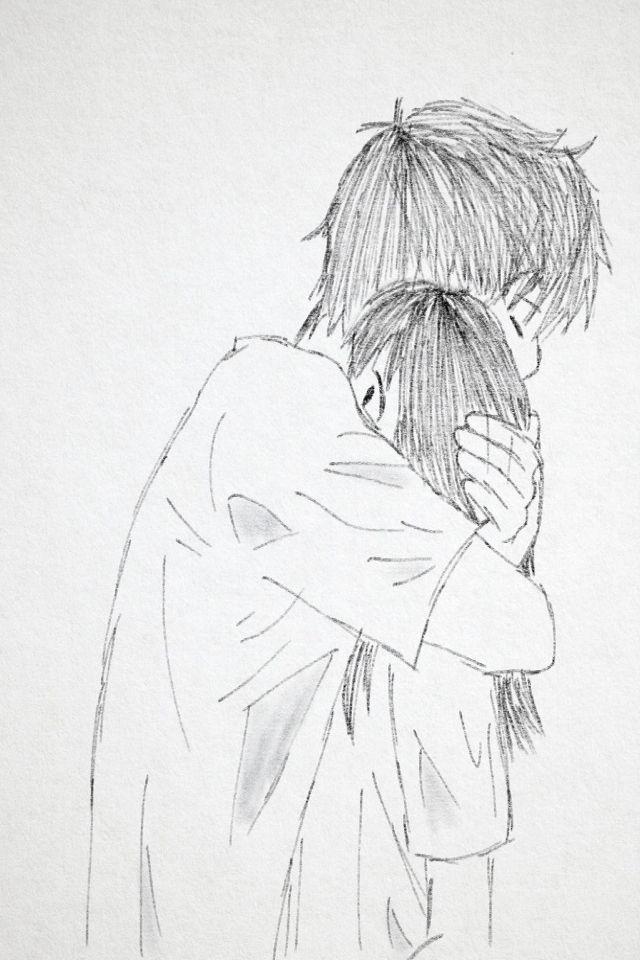 Pin By Zoe Hill On Drawings Drawing People People Hugging Drawings