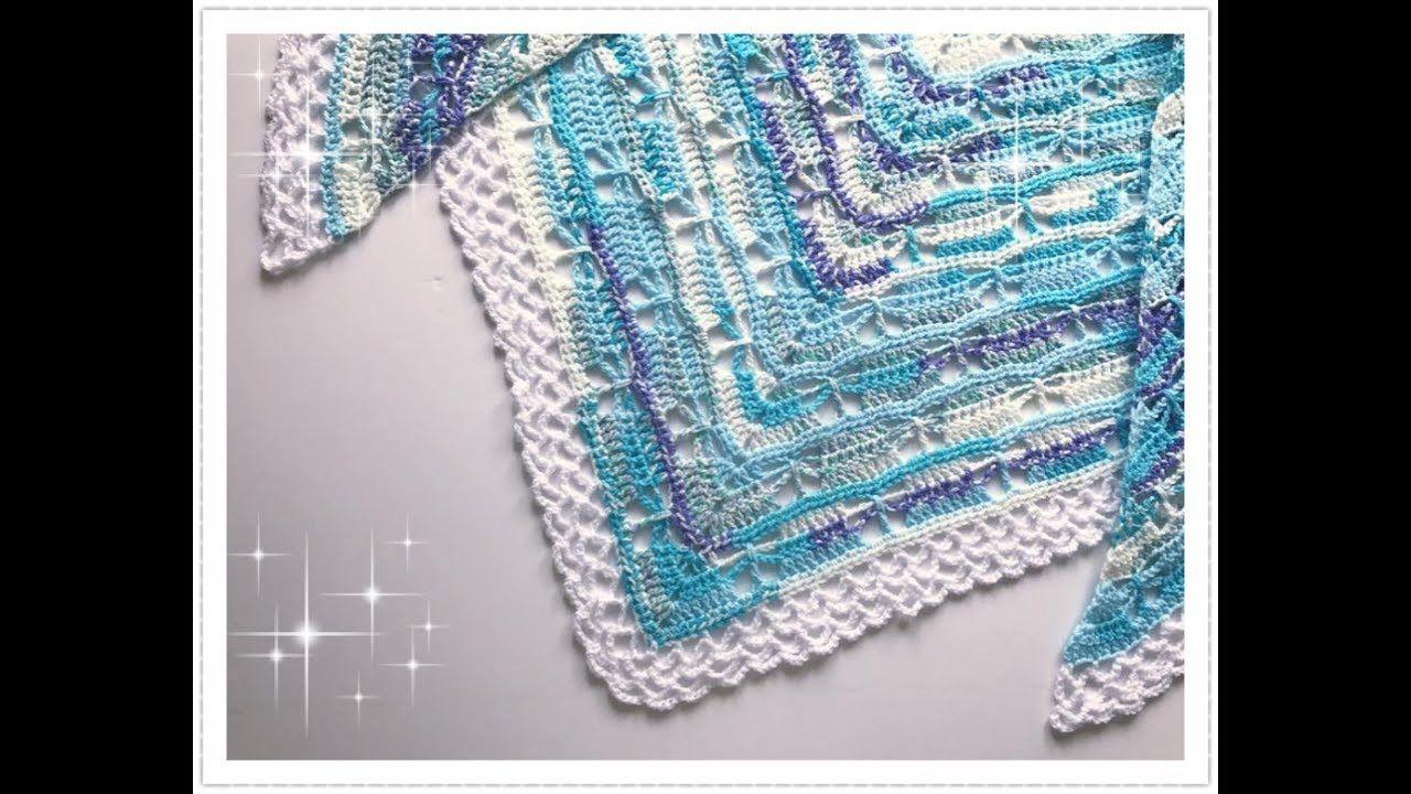 Einfaches haustürdesign einfaches schmetterlings dreieckstuch häkeln  butterfly stitch
