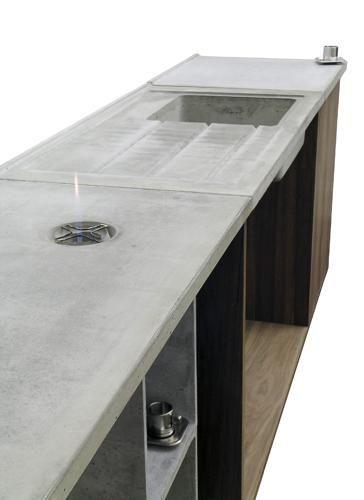 Betonküche betonware küche k 1 betonküche küche küchenausbau beton eiche