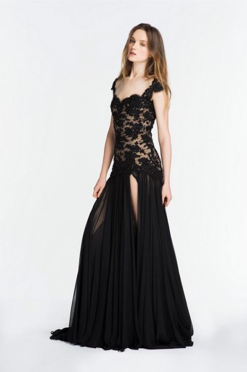 Vestidos de noche 2014 color negro