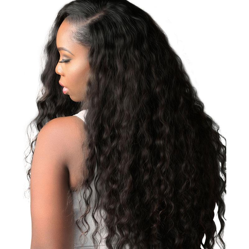 Grade 10a Lace Closures Virgin Brazilian Remy Hair 4 4 Deep Curly Free Part Natural Black Human Hair Wigs Goddess Hairstyles Brazilian Remy Hair
