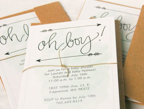 Baby Shower Invitesbaby Boy Shower Invite 5x7simpleclassic Mint