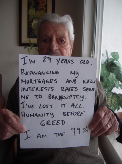 Age 89.  #occupywallstreet