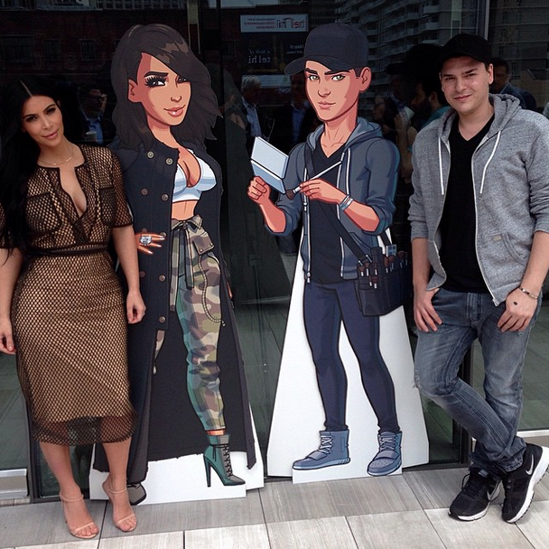Makeupbymario Omg I Love It Lol They Surprised Me With A Life Size Cardboard Cutout Of My Character On Kimkardashianhollywood The Game Makeupbymario K K Dash