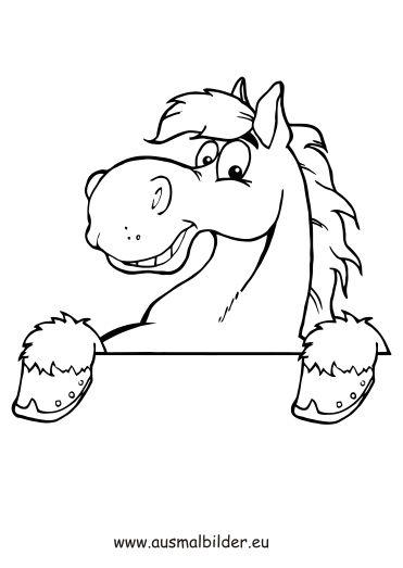 Ausmalbilder Pferdekopf Kostenlose Druckvorlagen Caballos