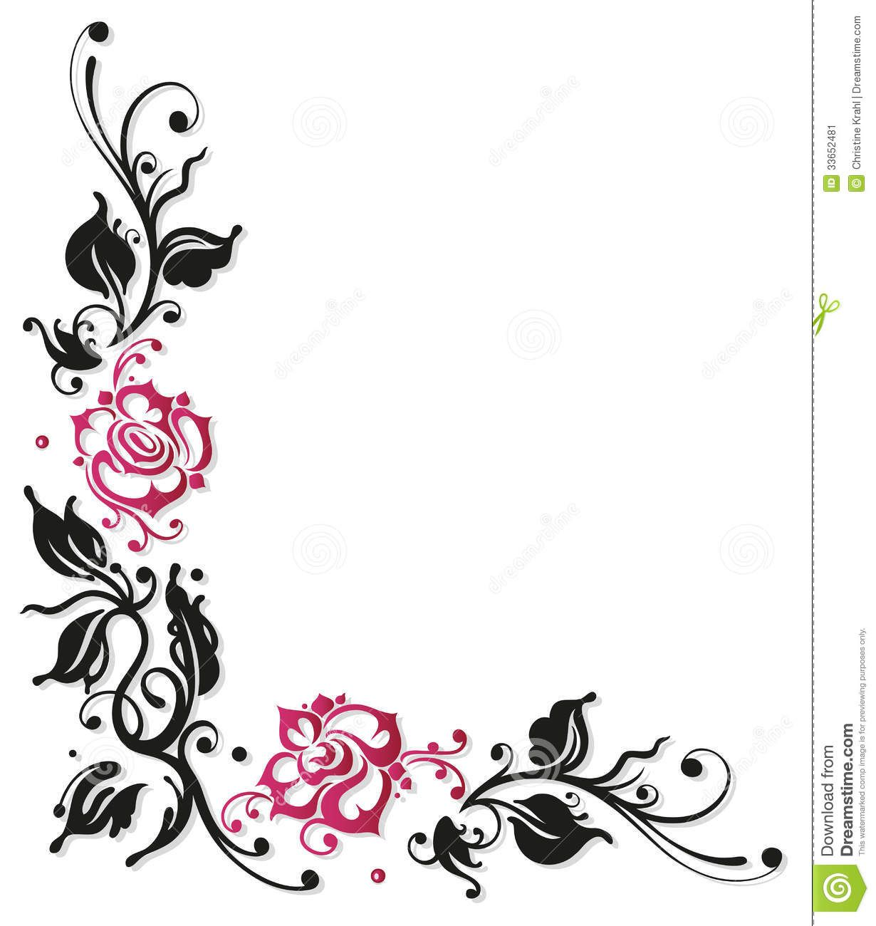 Image result for flower border design black and white