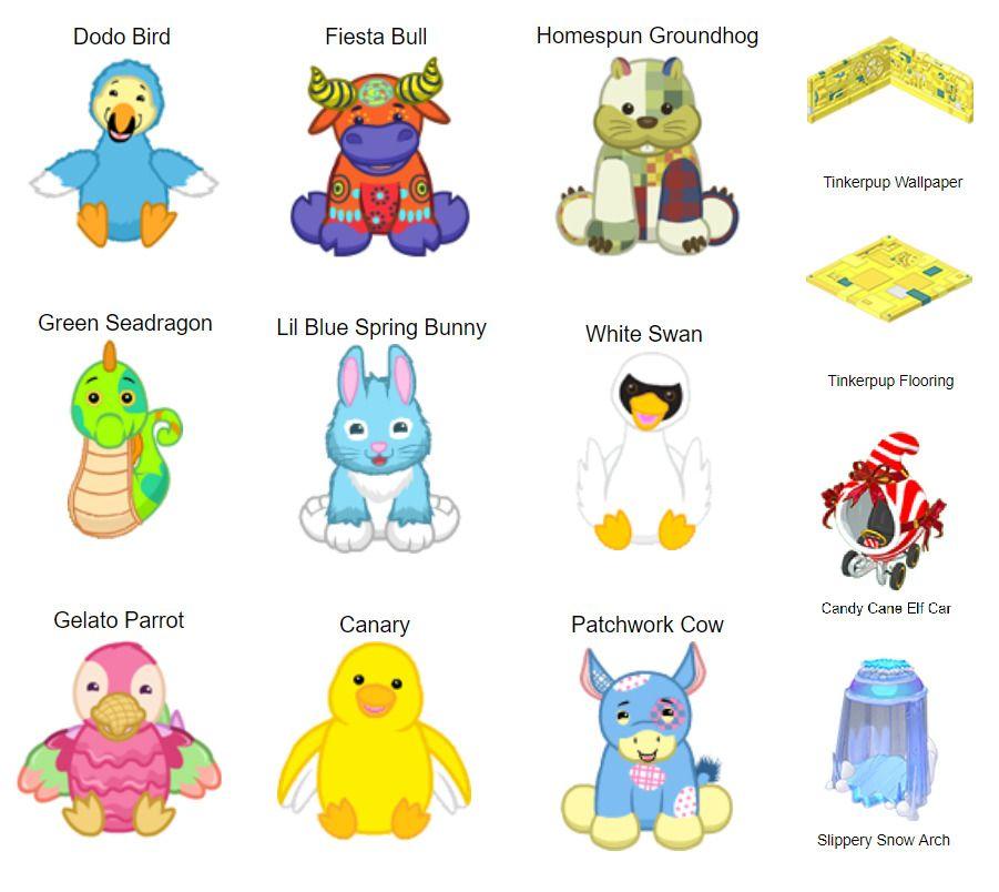 Webkinz Bundle 9 Pet Codes 4 Item Codes Codes Only Webkinz