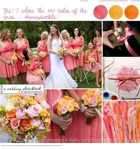 watermelon honeysuckle and tangerine wedding colors wedding ideas