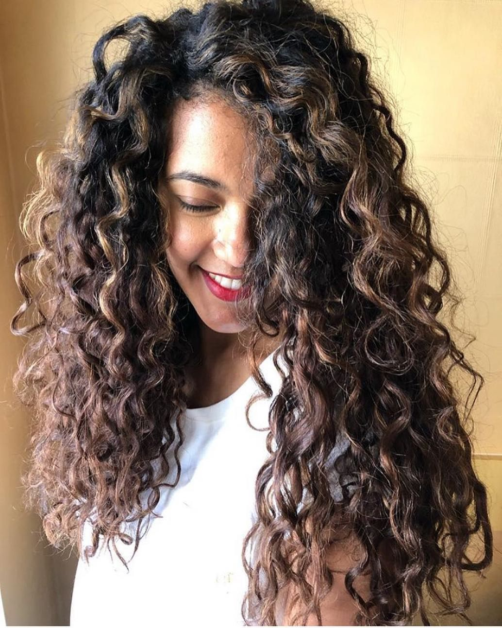 Dark Color Balayage On Haircuts For Long Curly Hair 2020 Curly Hair Styles Hair Lengths Hair Styles