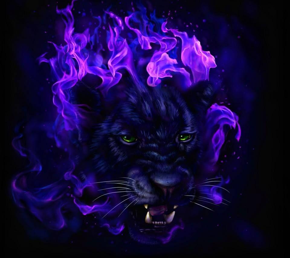 Kk Purple Everything Spirit Animal Art Panther Art Fire Art