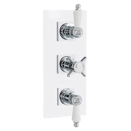Traditional Triple Concealed Thermostatic Shower Valve With