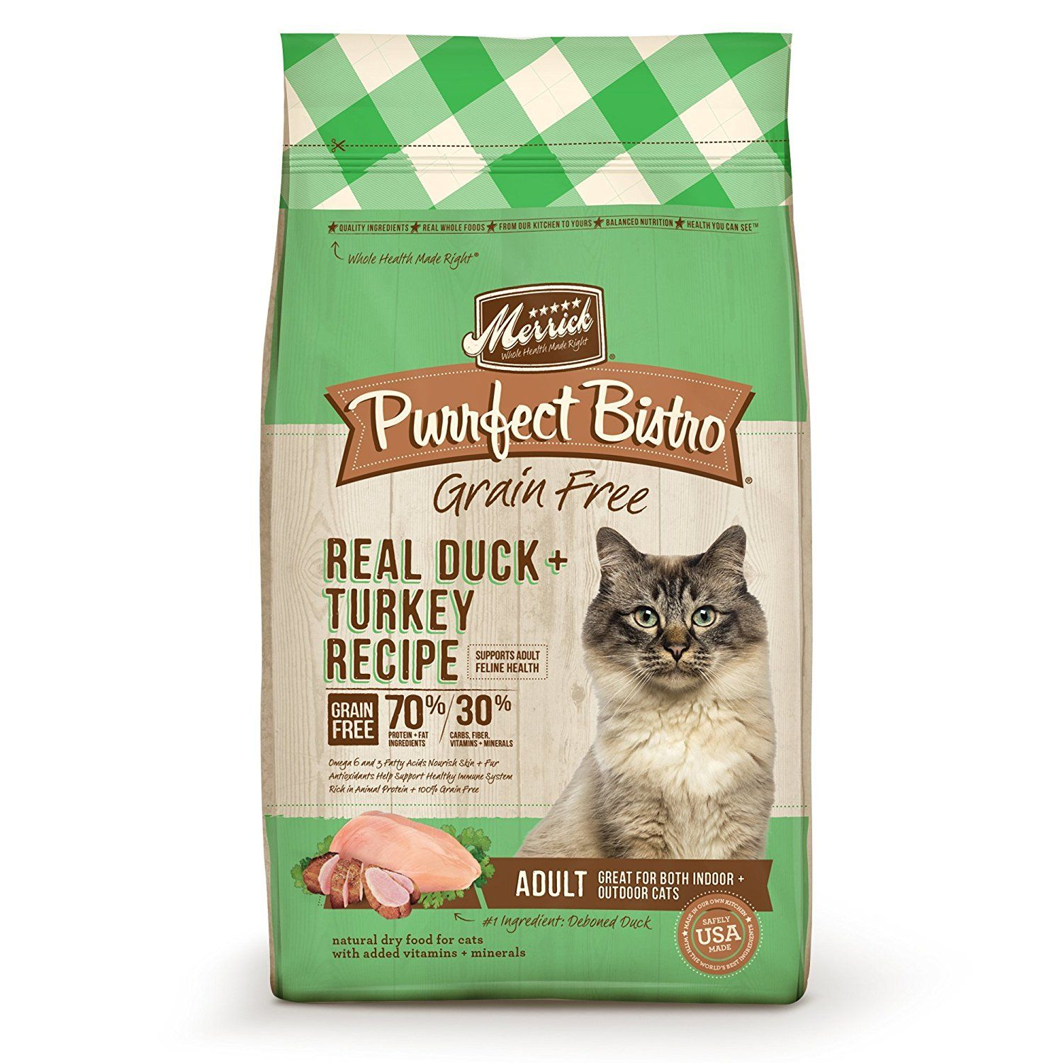 Merrick Purrfect Bistro Real Duck and Turkey Recipe Dry