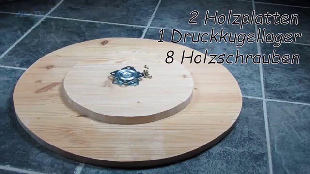 Drehteller selber bauen.  Woodworking projects diy, Diy turntable