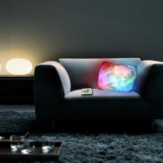 Coussin lumineux télécommande LED | Telecommande, LED et Lumières