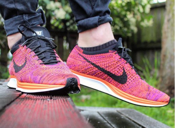 timeless design f0d3c 1ec30 ... authentic nike flyknit racer multicolor acai berry fc093 0ebd0