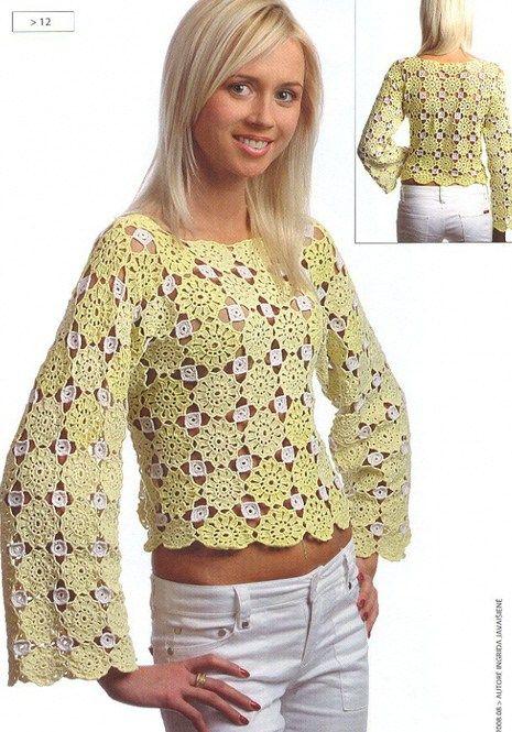 Crochet Blouse Crochet By Yana Pinterest
