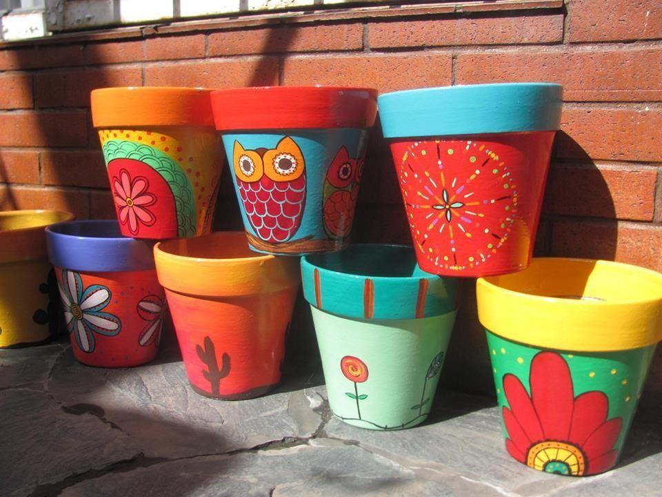 103 best macetas images on pinterest | flower pots, paint pots and