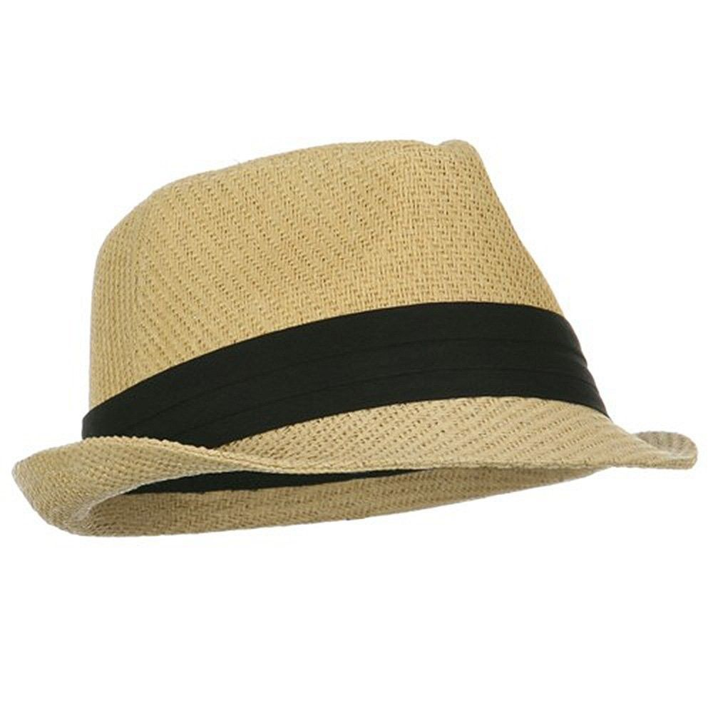 e62a447e10587 Private Island Party - Tan Cuban Tweed Fedora Hat with Black Band Buy in  Bulk and Save for your Next Party! These awesome Cuban Style Tweed Fedora  Hats are ...