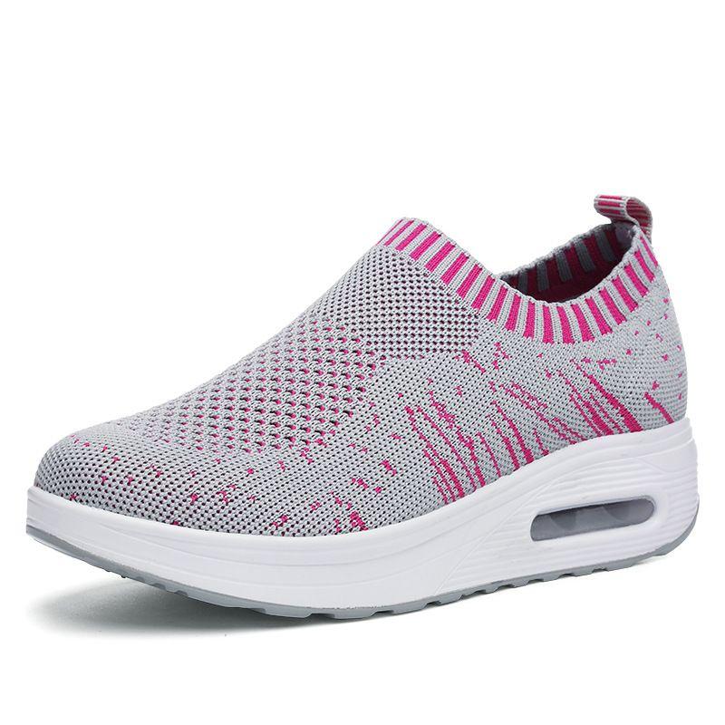 Mesh Rocker Sole Zapatos Mujer Luz transpirable Casual Sport al aire libre  Zapatos 42048155a948e