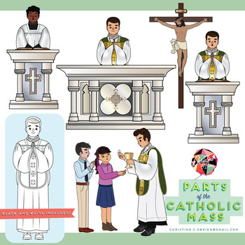 parts of the catholic mass clip art set mass catholic pinterest rh pinterest com mess clipart family masks clipart