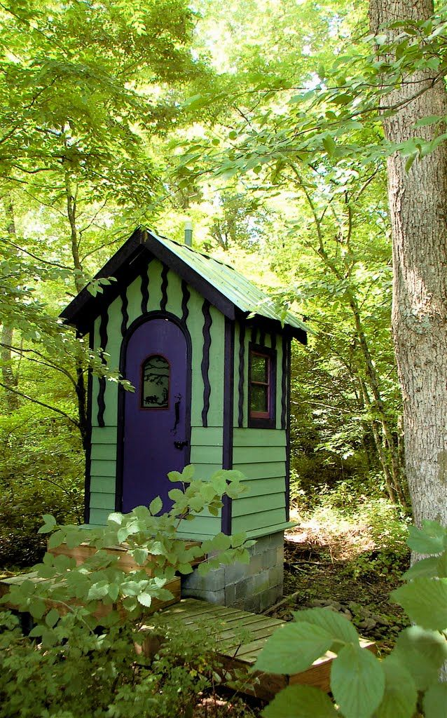modern, cool vibe outhouse