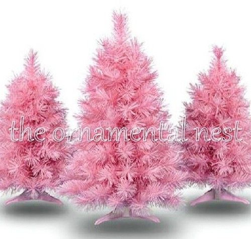 Holiday Time Vermont Pine Shabby Cottage Chic Baby Pink Christmas