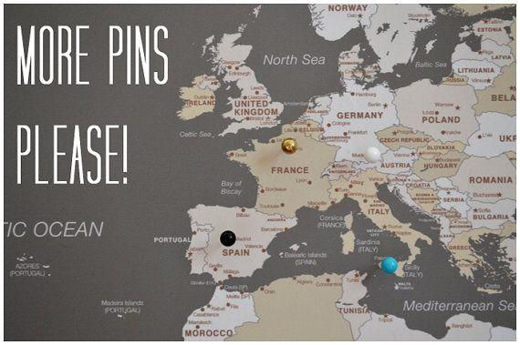 Push Pin Travel Map World Map Framed World Map World Map - Framed travel map with pins