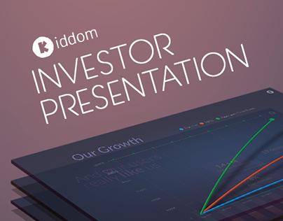 An Investor Presentation For Kiddom Corp  Presentation Design
