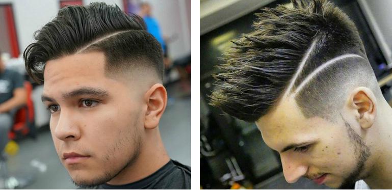 coiffure homme 2 trait