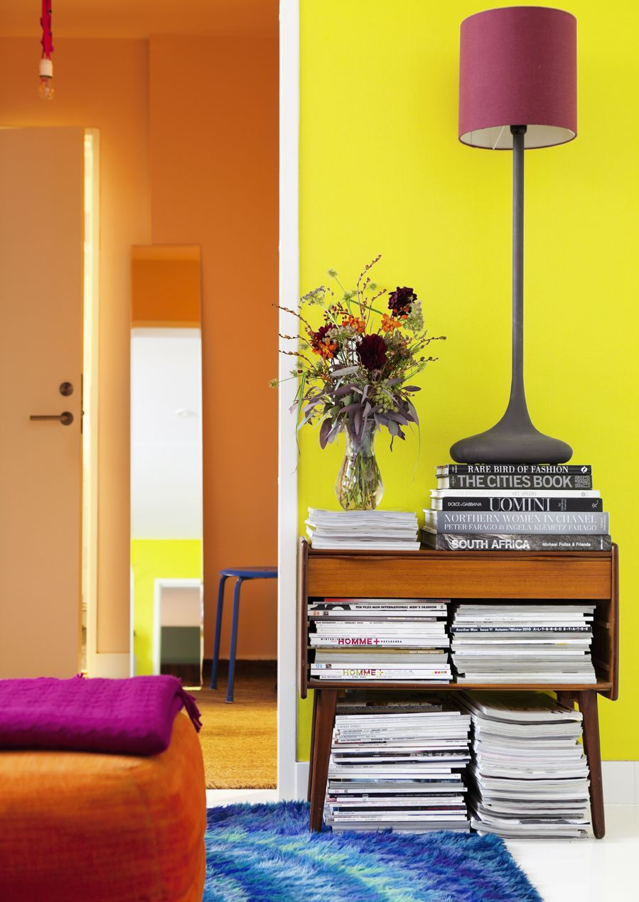 Färgstarkt Ikea-retro | Colorful interiors | Pinterest | Retro ...