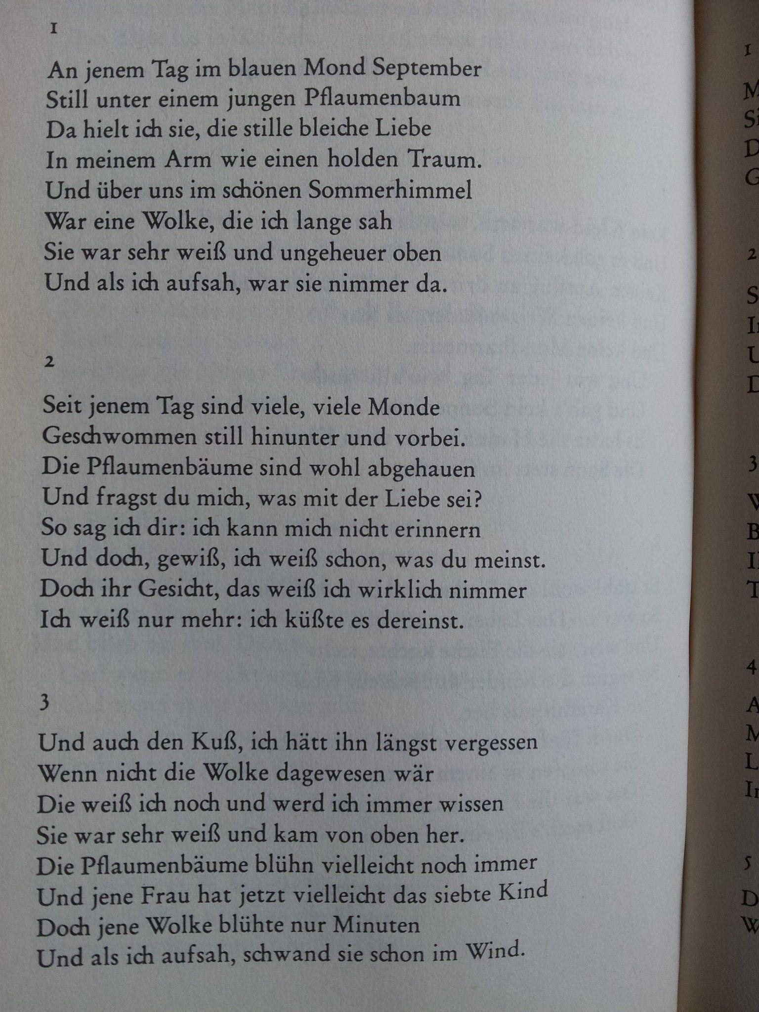 Bertolt Brecht. Erinnerung An Die Marie A. I\'m not an expert on ...