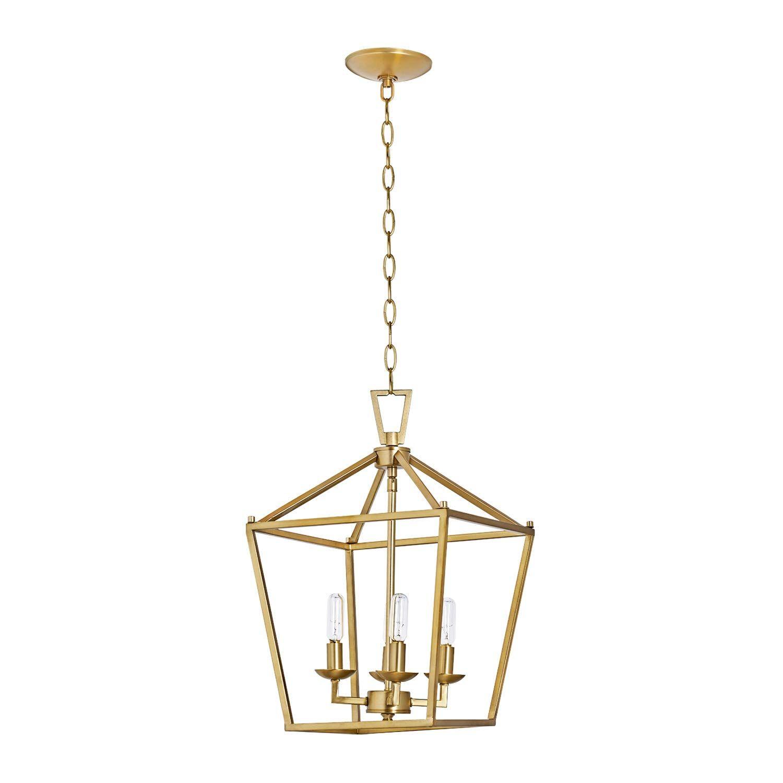 Gold Lantern Chandelier In 2020 Lantern Pendant Lighting