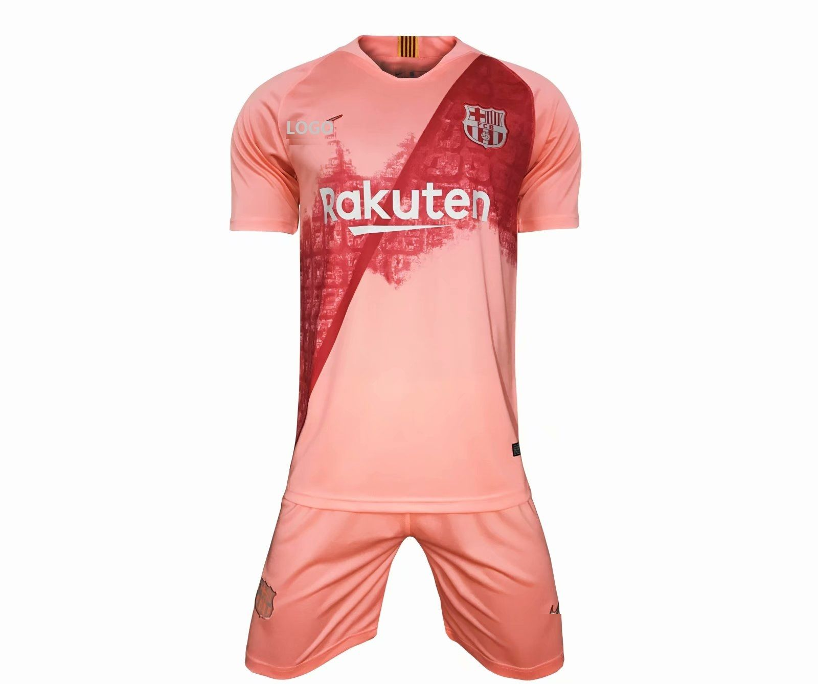 1ef4d7034 2018 19 Men barcelona 3rd away pink Soccer Jersey Uniform Youth Football  Kits AAA Quality