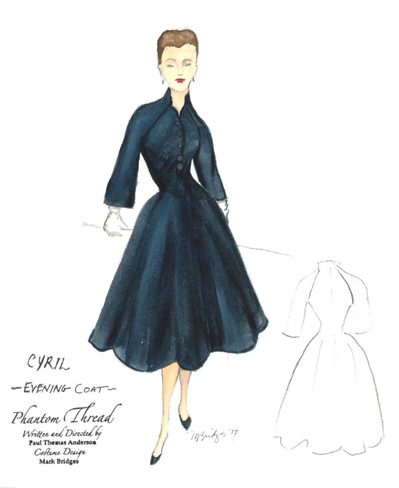 Oscar #Winners #2018 s#Costume #Designer #MarkBridge's #sketch of