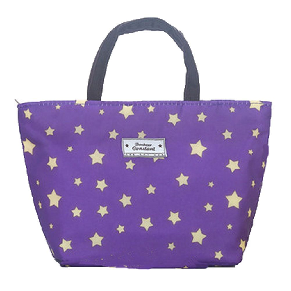 High Capacity The Bag of Lunch Box/Bags(Purple Star,Free)