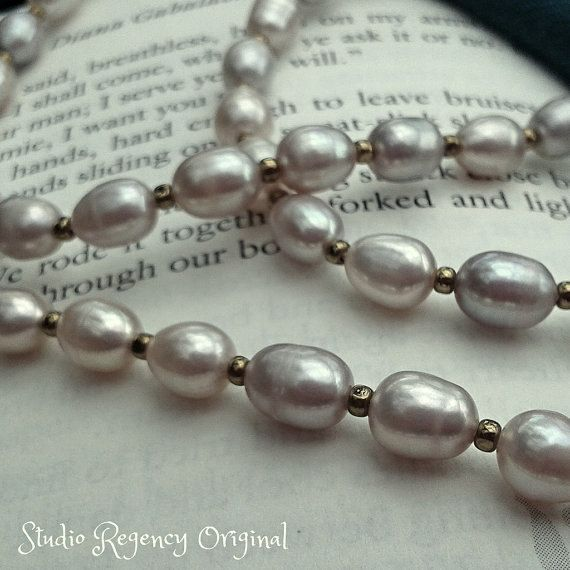 a1dcad84271de Claire's Pearl Necklace Outlander Pearl Necklace by StudioRegency ...