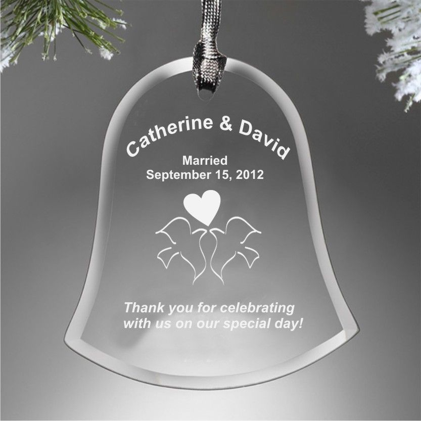 Dixie Midwest - Engraved Bell Ornaments Personalized Wedding ...