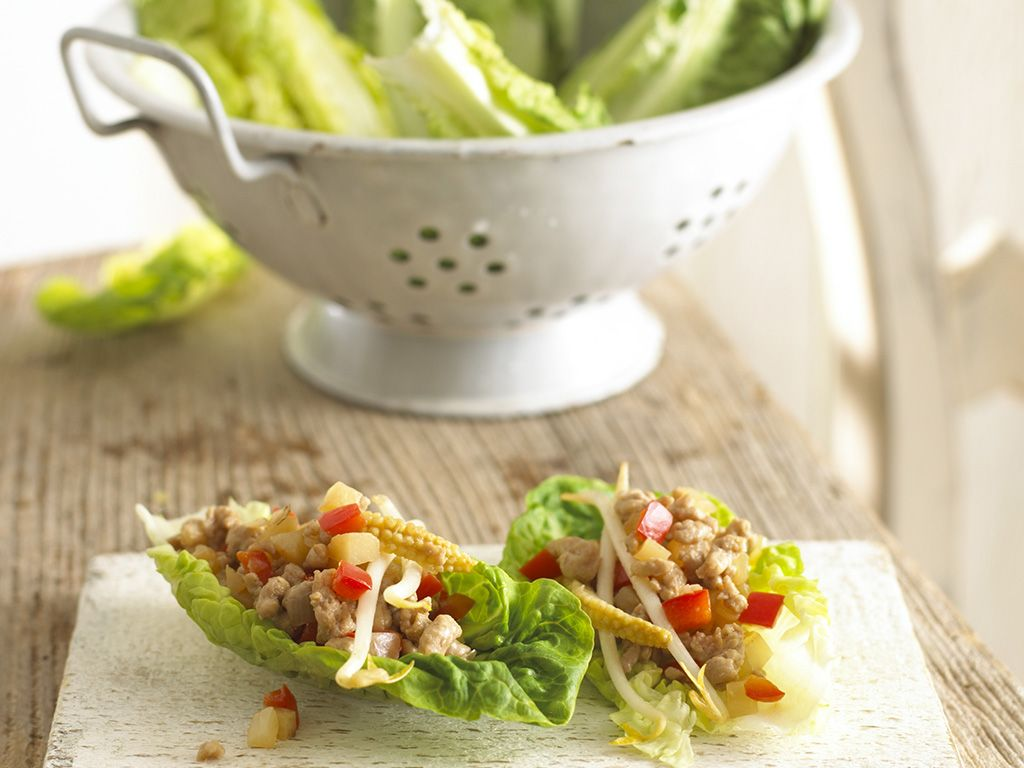 Chinese style pork in lettuce boats pork lettuce and recipes chinese style pork in lettuce boats recipes for babiesbaby food forumfinder Images