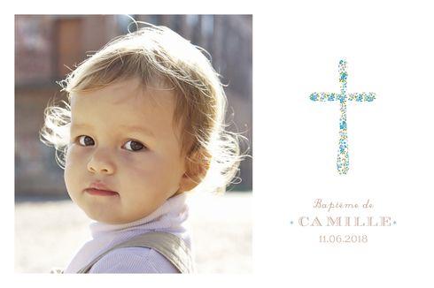 Carte De Remerciement Bapteme Merci Croix Liberty By Tomoe Pour