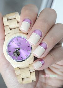 Cora maple and lavender nail art